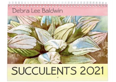 Succulents 2021 Watercolor Calendar